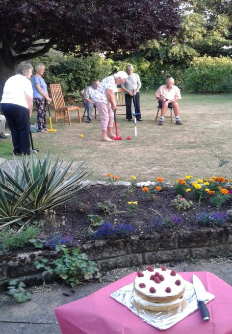 Summer croquet on the lawn